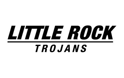Black Little Rock Trojans wordmark on white background