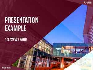 Preview of Expect More branded presentation template with 4x3 aspect ratio.