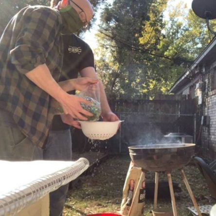 UA Little Rock ACM members stream a smelting project for charity