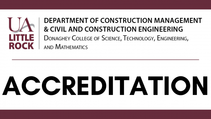 Accreditation with a header stating the department's name.