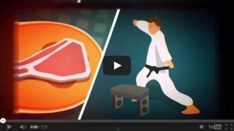porkchop/ karate chop screenshot from the youtube video