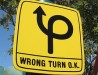 wrong turn sign thumnail