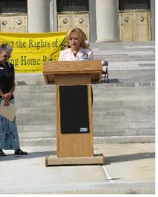 AANHR President, Martha Deaver addresses crowd at 2007 Residents' Rights Rally