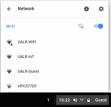 Click UALR-WiFi