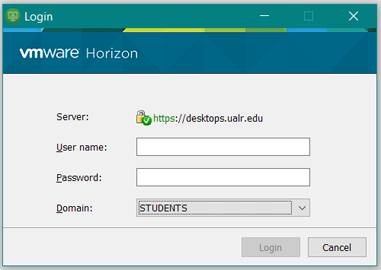 Log into VMWare On Client
