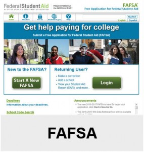 Links to the FAFSA and links that help fill out the fafsa