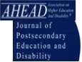logo for AHEAD Journal of Postsecondary Education and Disability