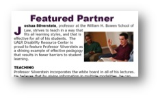 Screen shot of Featured Partner Joshua Silverstein