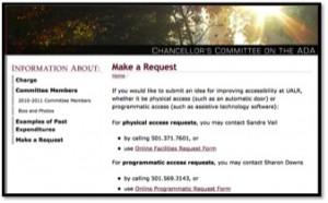 CADA website screen shot
