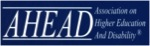 Logo for AHEAD, Association on Higher Education and Disability