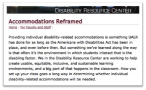 'Accommodations Reframed' screen shot