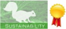 Sustainability logo, award ribon image