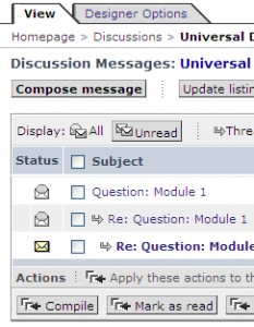 partial screen shot showing email box