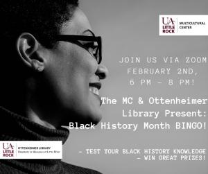 Black History Bingo flyer