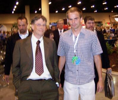 Bill Gates and Vladimir Findra at the Annual Meeting for Berkshire Hathaway, Inc.