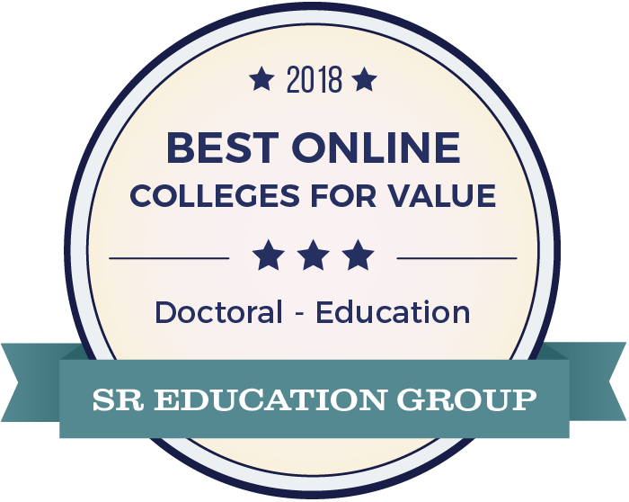 SR Education Group badge for 2018 best online colleges for value doctoral in education.