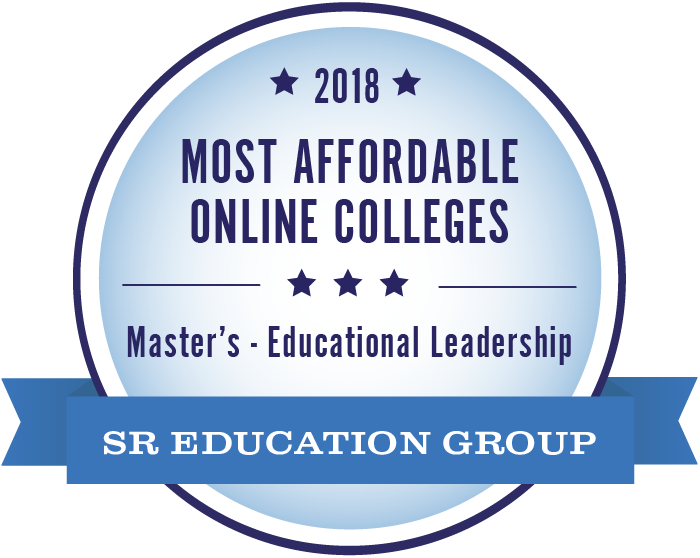 SR Education Group badge for 2018 most affordable online colleges master's in education.
