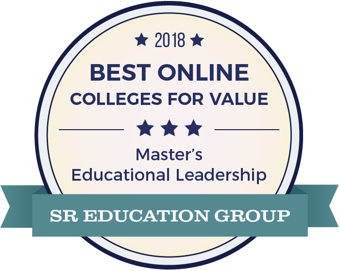SR Education Group badge for 2018 best online colleges for value master's in education.