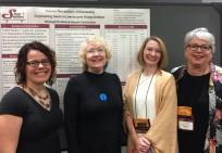 Left to right: Jill Adelson (University of Louisville), Ann Robinson, Kristy Kidd, Christine Deitz (University of Arkansas - Little Rock)