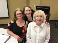 Gail Hughes, Kristy Kidd, and Ann Robinson