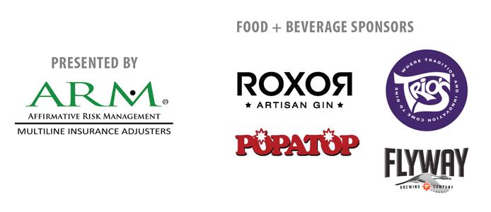 PRESENTING SPONSOR: Affirmative Risk Management; FOOD SPONSORS: ROXOR Artisan Gin, Trio's Restaurant, Flyway Brewing Company