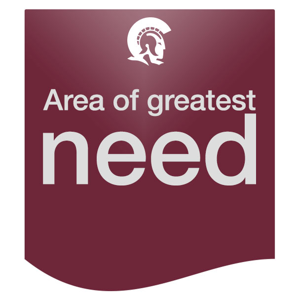 Area of greatest need