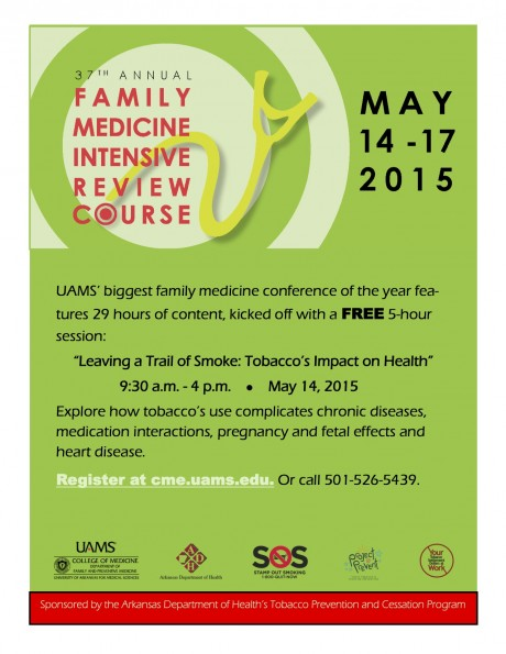 flier from uams family medicine review conference 2015