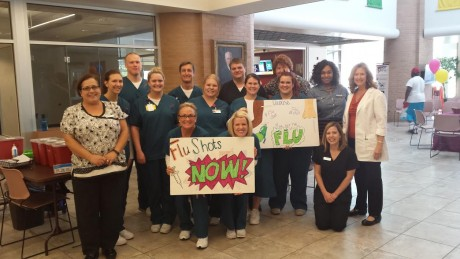 photo of nursing students and faculty who assisted with flu shots at ualr