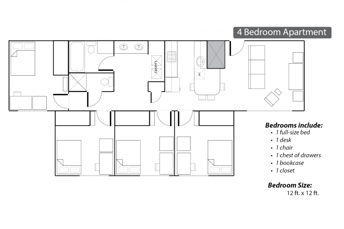 Commons Apartments Layout 4Bed