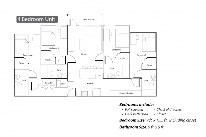 Village 4Bed Layout