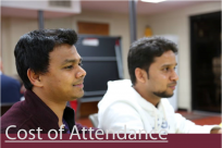Cost of attendance - website