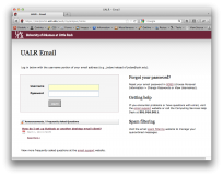 A screenshot of the existing email login.