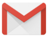 The Gmail logo is an envelope with a red border that creates the letter M.