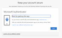 A screenshot of the Microsoft Authenticator app instructions
