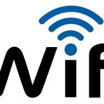 WiFi word and image of the wifi symbol appearing over the letter 'i' .