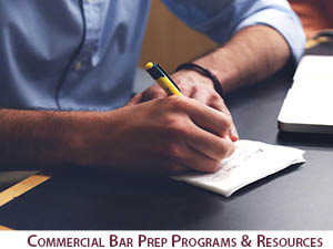 Commercial Bar Prep Programs and Resources