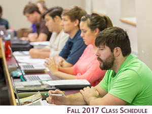 Fall 2017 Class Schedule