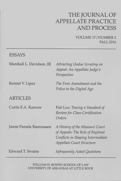 Vol. 17, No. 2, Fall 2016