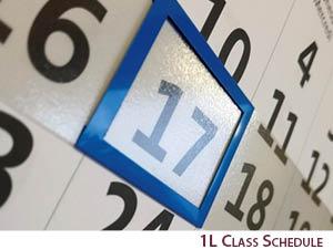 1L Class Schedule