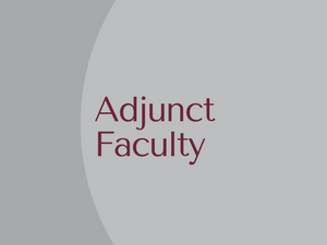 Adjunct Faculty Members