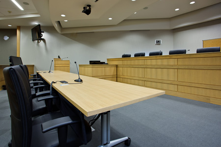 Friday Courtroom bench