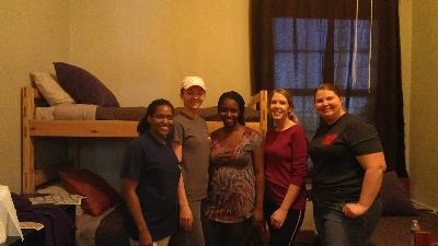 AAWL members regularly work with a women's shelter.