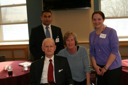 Abtin Mehdizadegan, '13, Dean William H. Bowen, Patti Barker and Kitty Cone, '13