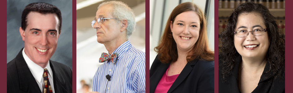 Professor Josh Silverstein, Dean Emeritus John DiPippa, Professor Rebecca Feldmann, Associate Dean Jessie Burchfield