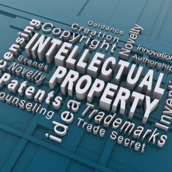 word cloud of intellectual property terms