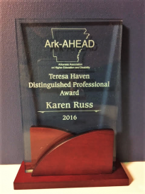 Ark-AHEAD Teresa haven Distinguished Professional Award Karen Russ 2016