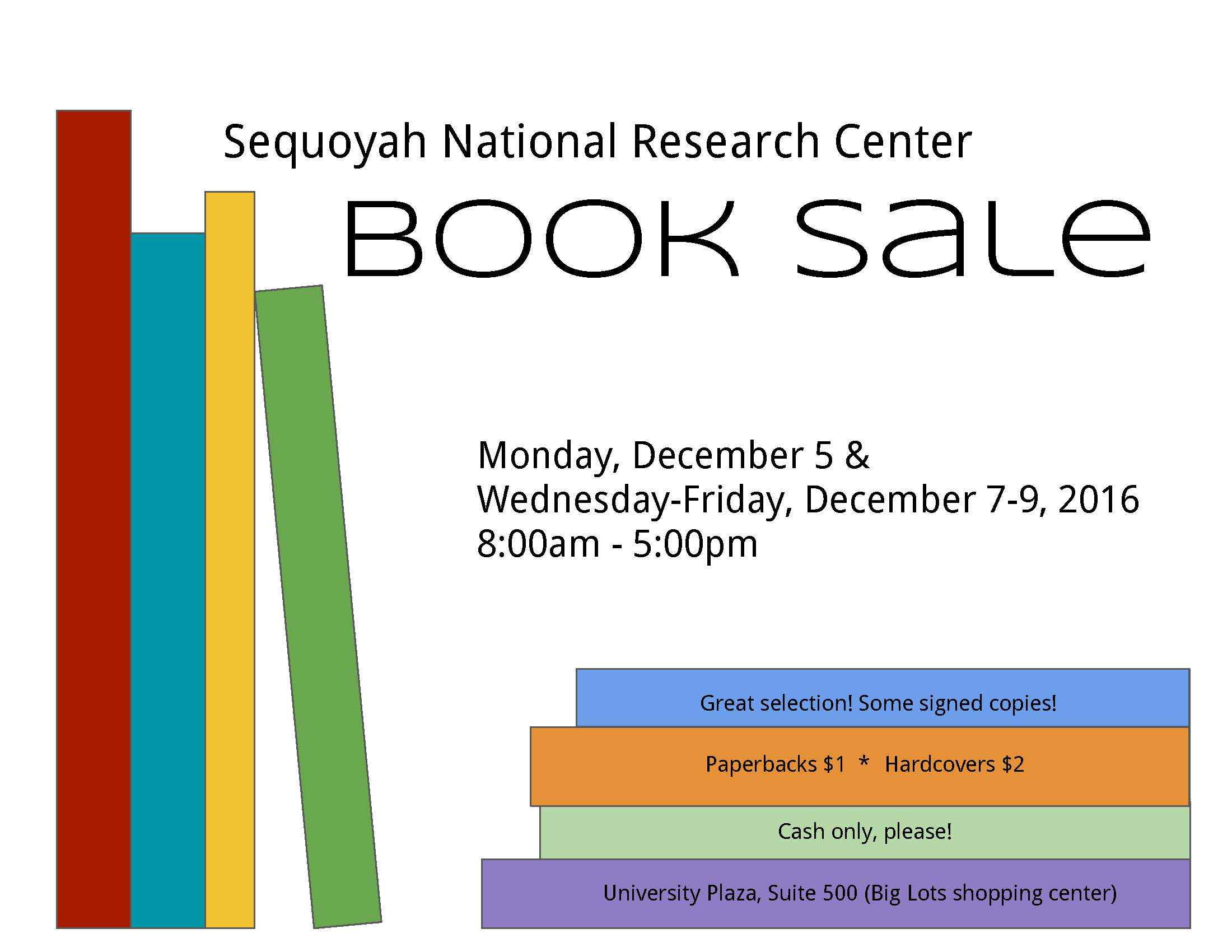 Book Sale at SNRC