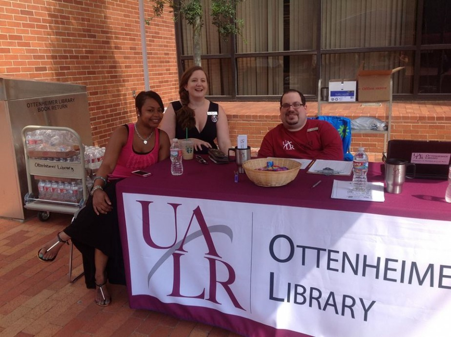 Library Welcome table