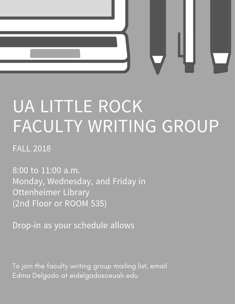 UA Little Rock Faculty Writing Group