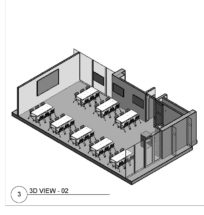3D View of Collaborative Classroom